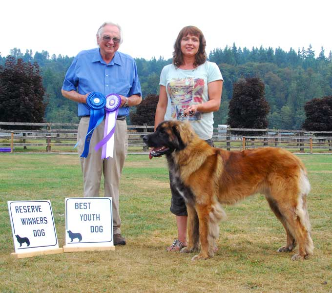 August 18, 2012 - Reserve Winners Dog